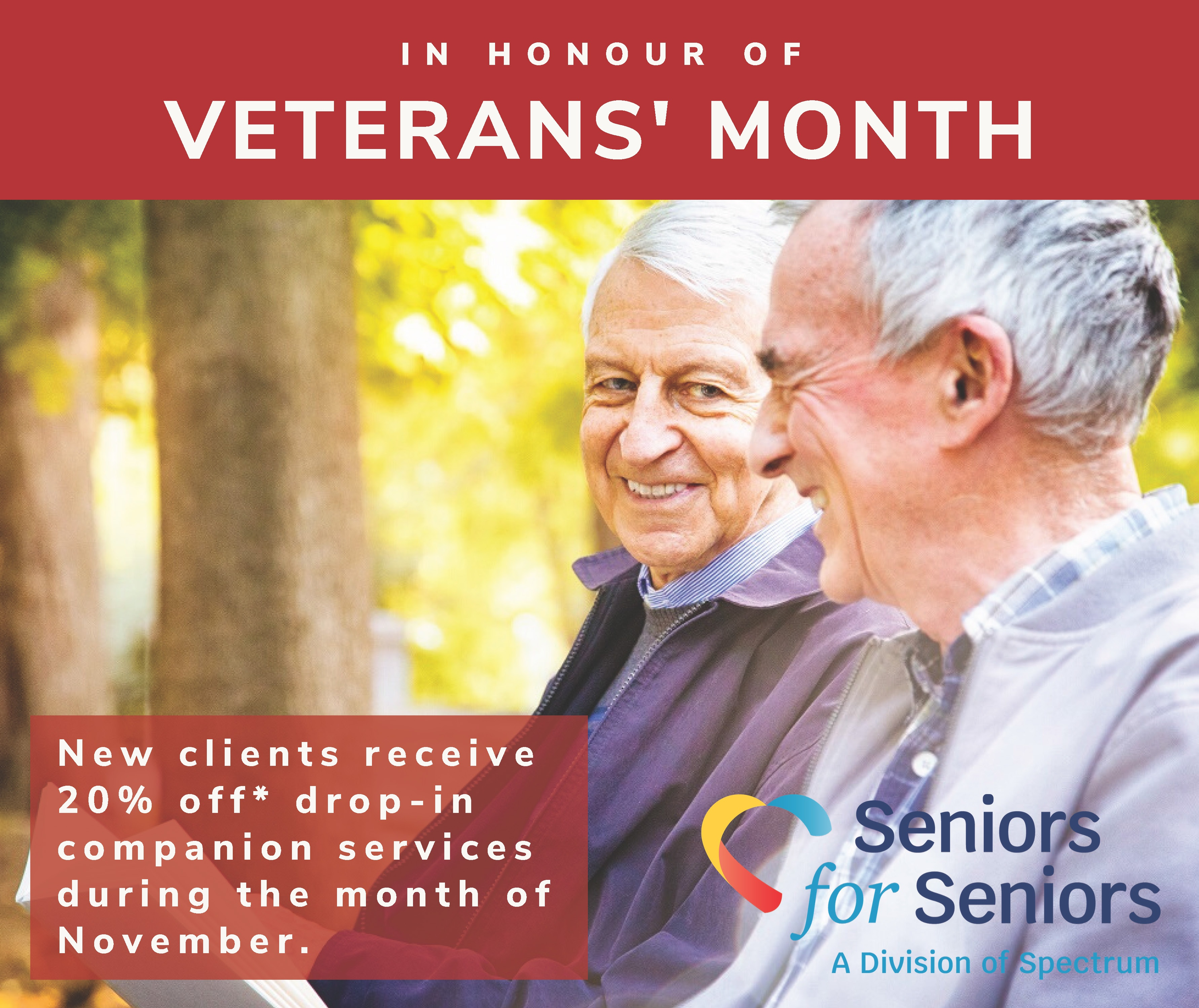 Image: A special Veterans' Month discount